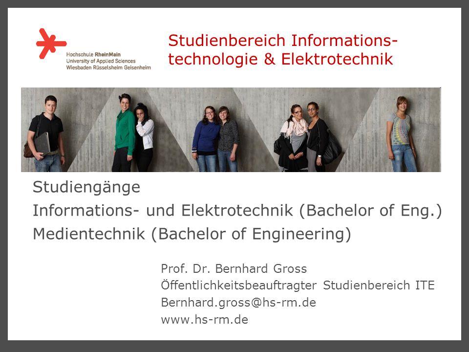 Studienbereich Informations- technologie & Elektrotechnik