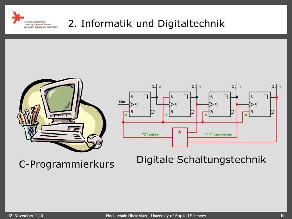 2. Informatik und Digitaltechnik