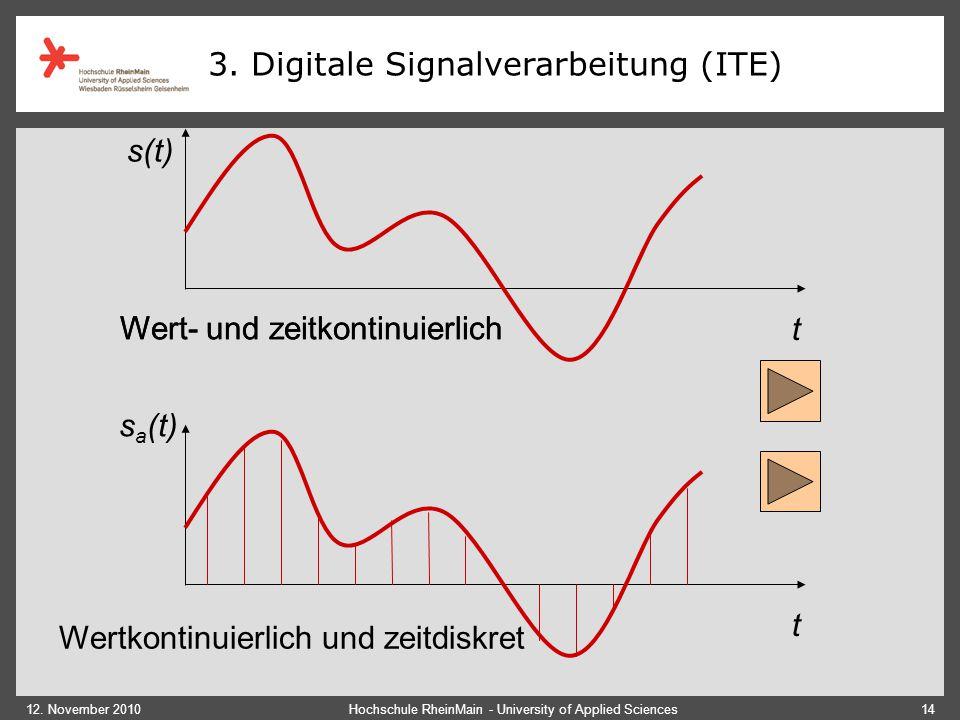 3. Digitale Signalverarbeitung (ITE)