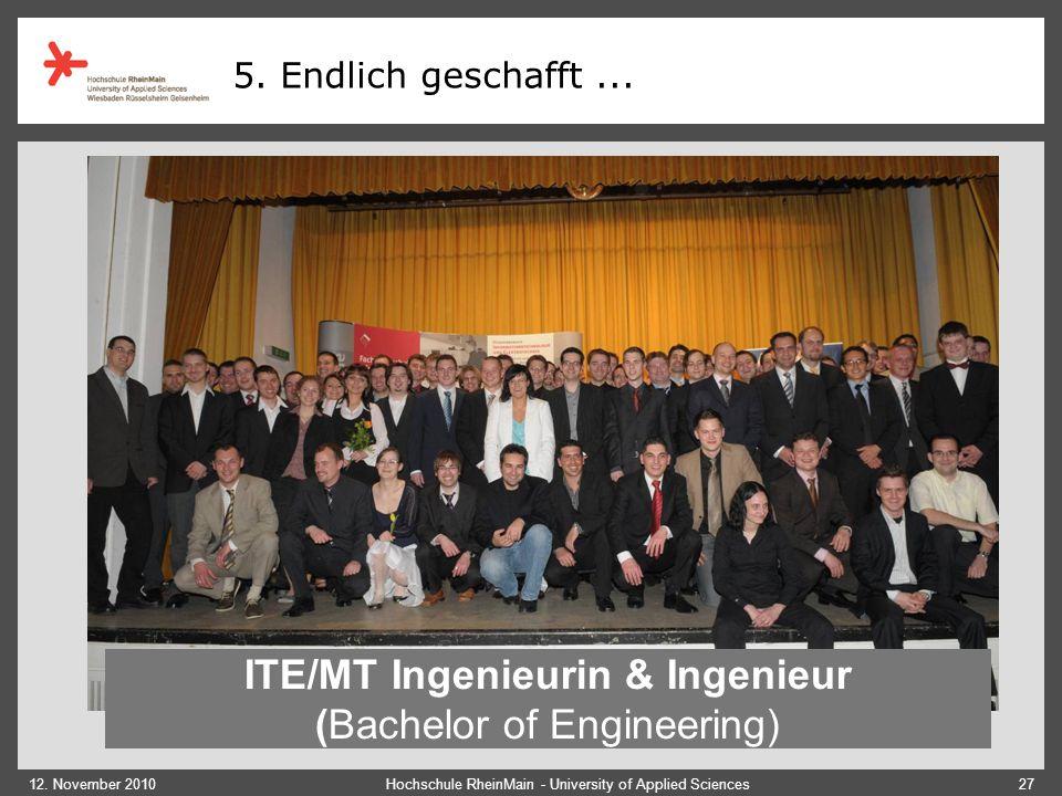 ITE/MT Ingenieurin & Ingenieur (Bachelor of Engineering)