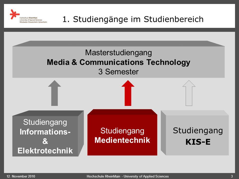 1. Studiengänge im Studienbereich