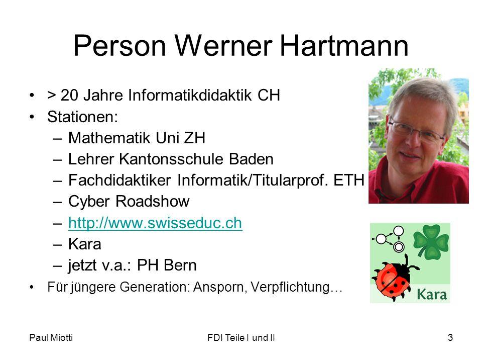 Person Werner Hartmann