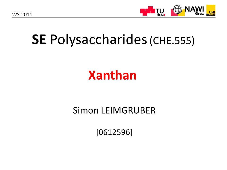 SE Polysaccharides (CHE.555)