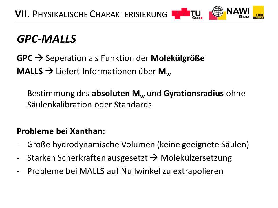 GPC-MALLS VII. Physikalische Charakterisierung