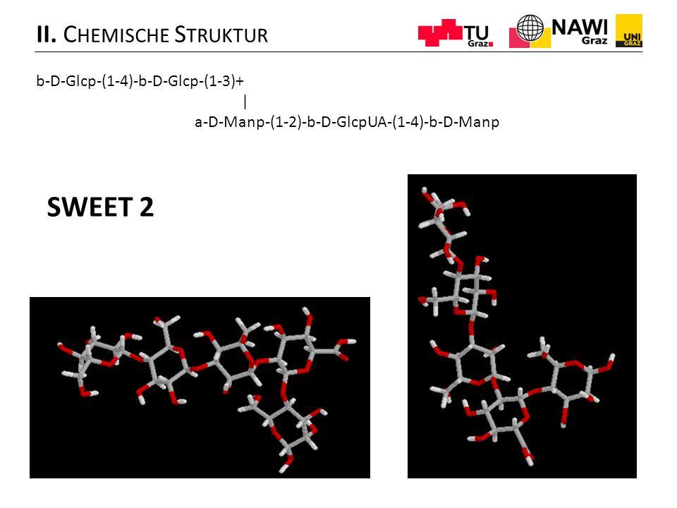SWEET 2 II. Chemische Struktur b-D-Glcp-(1-4)-b-D-Glcp-(1-3)+ |