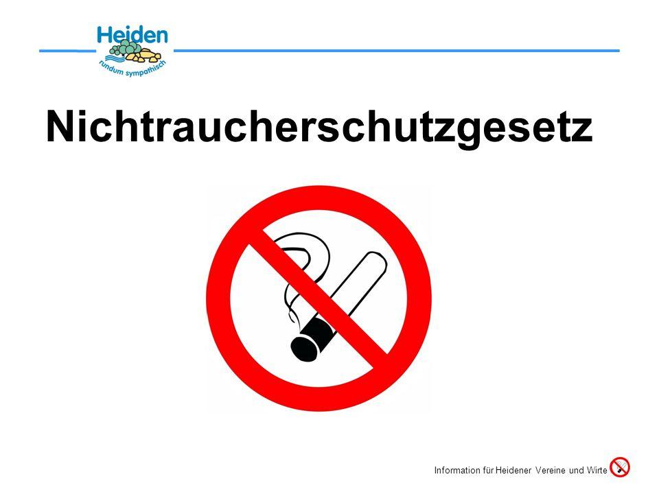 Nichtraucherschutzgesetz