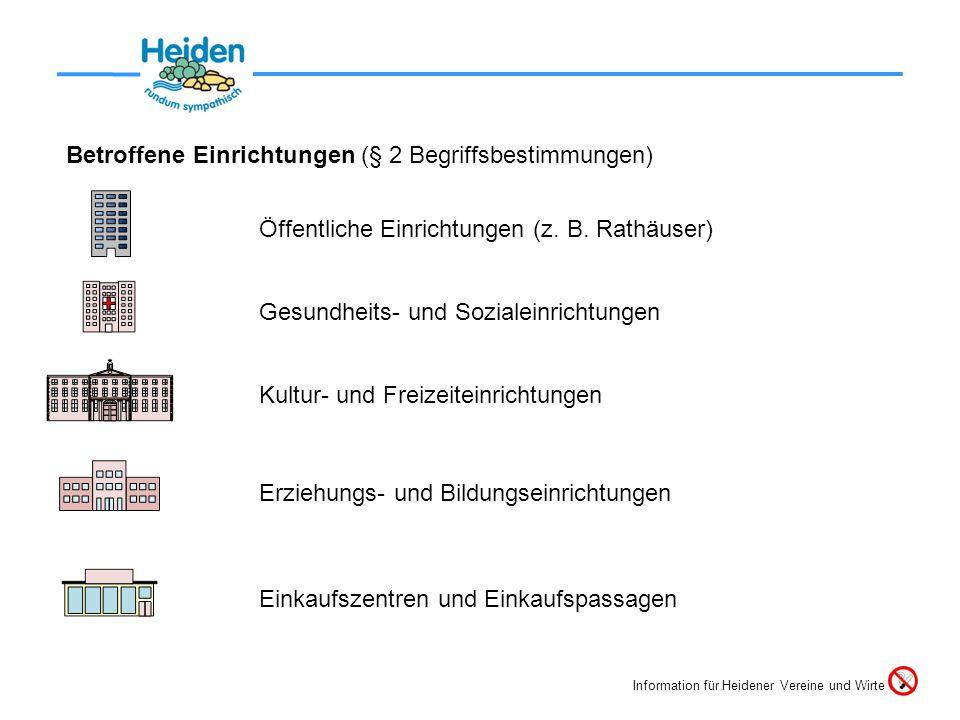 Betroffene Einrichtungen (§ 2 Begriffsbestimmungen)