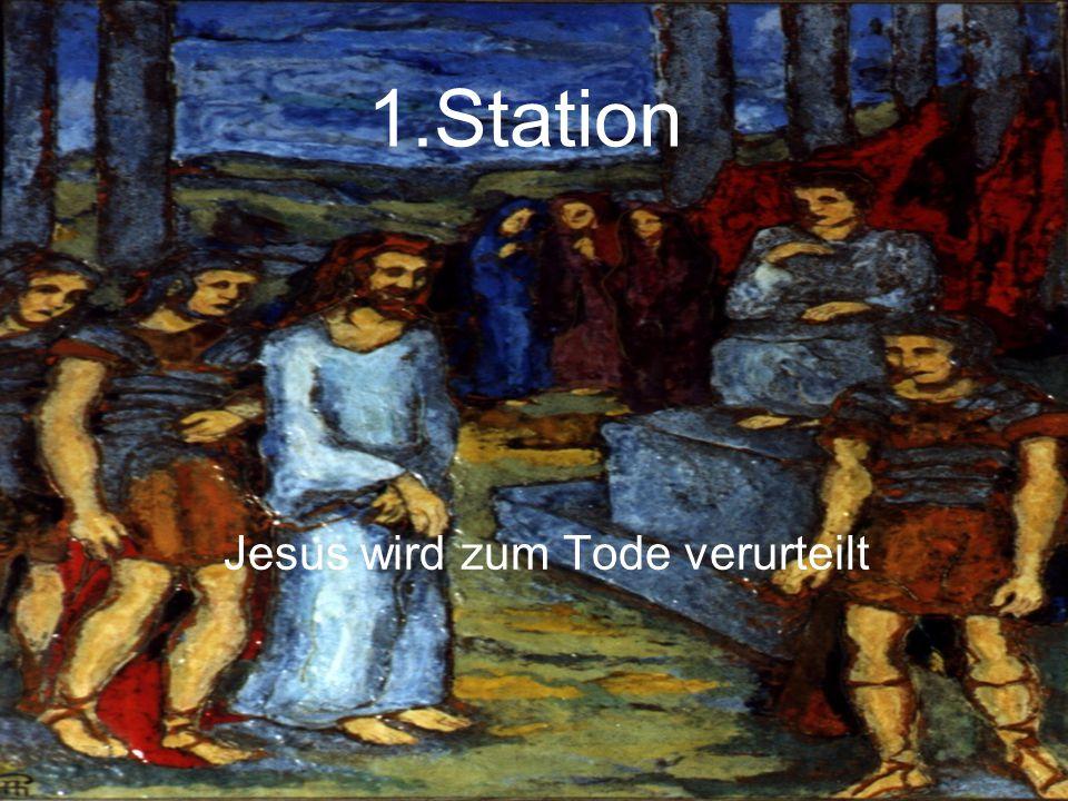 Jesus wird zum Tode verurteilt
