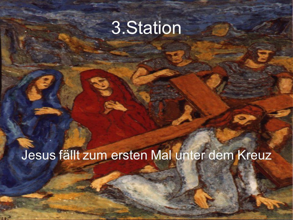 Jesus fällt zum ersten Mal unter dem Kreuz