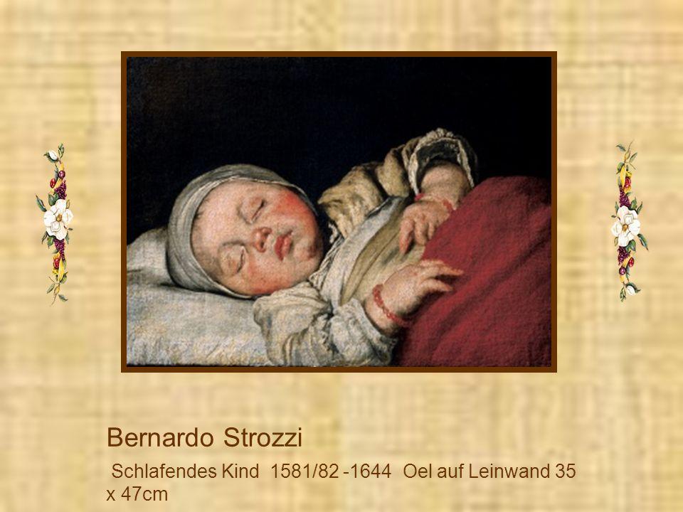 Bernardo Strozzi Schlafendes Kind 1581/82 – 1644 Oel auf Leinwand 35 x 47cm