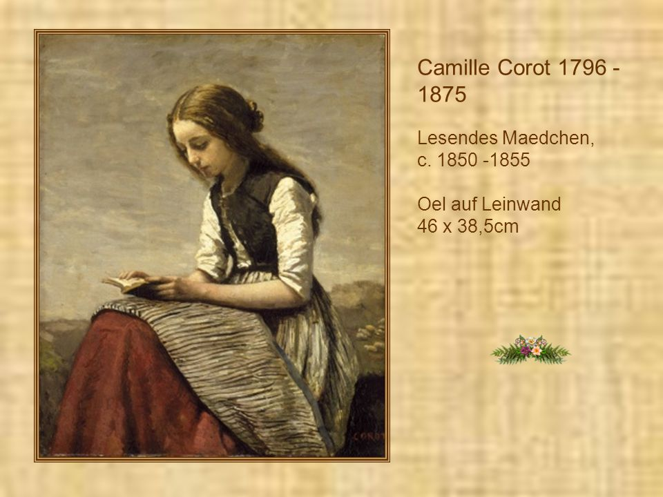 Camille Corot 1796 -1875 Lesendes Maedchen, c. 1850 -1855