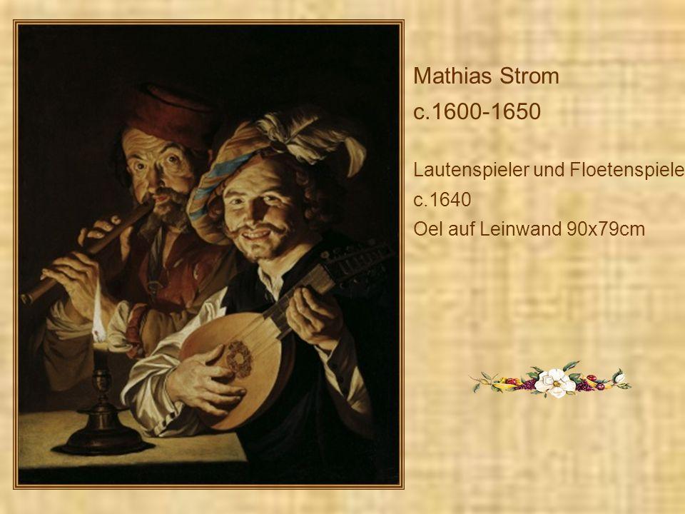 Mathias Strom c.1600-1650 Lautenspieler und Floetenspieler, c.1640