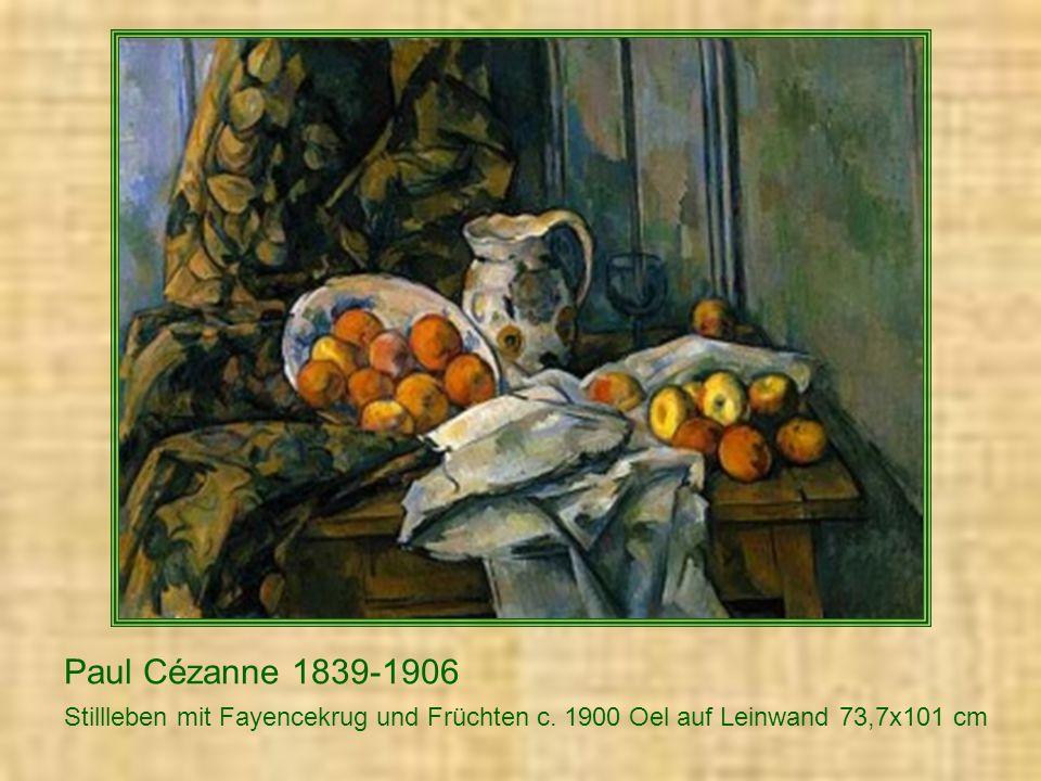 Paul Cézanne 1839-1906 Stillleben mit Fayencekrug und Fruechten c