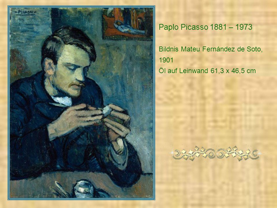 Paplo Picasso 1881 – 1973 Bildnis Mateu Fernández de Soto, 1901