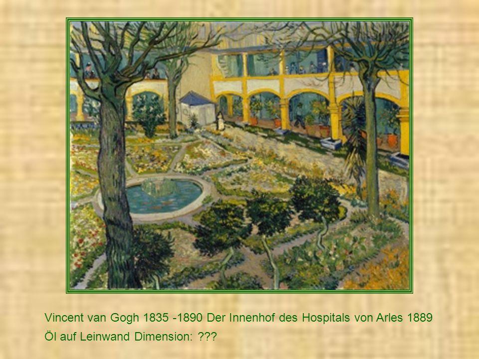 Vincent van Gogh 1835 -1890 Der Innenhof des Hospitals von Arles 1889