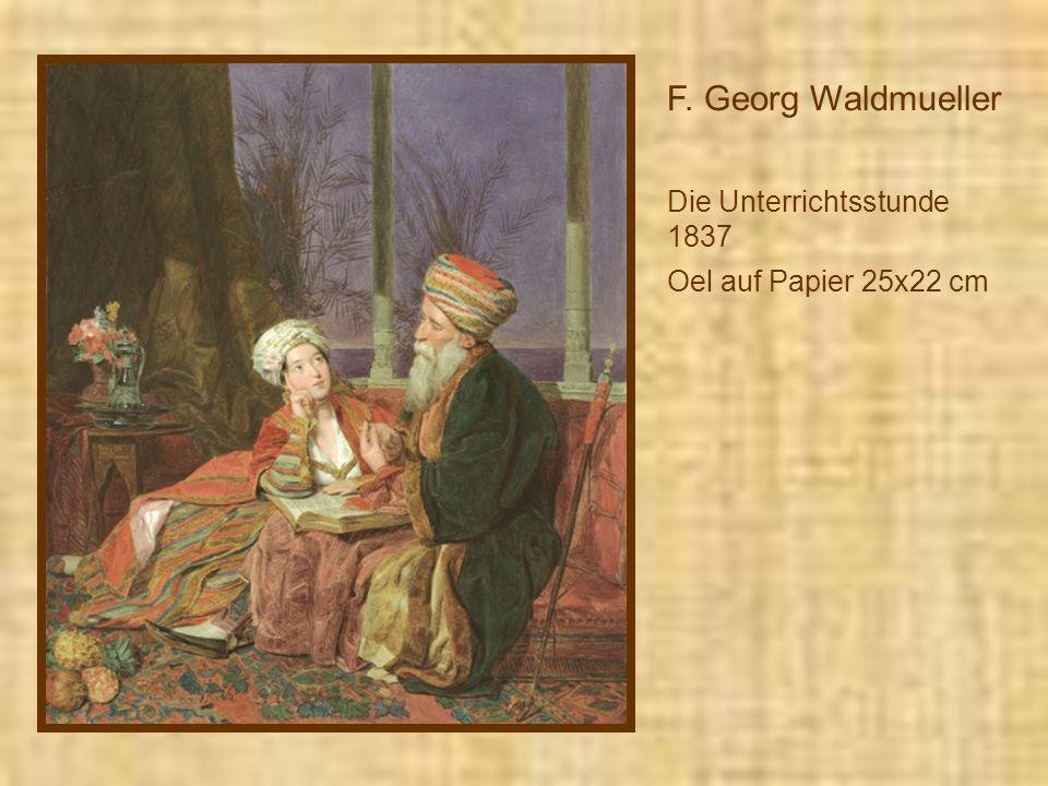 F. Georg Waldmueller Die Unterrichtsstunde 1837