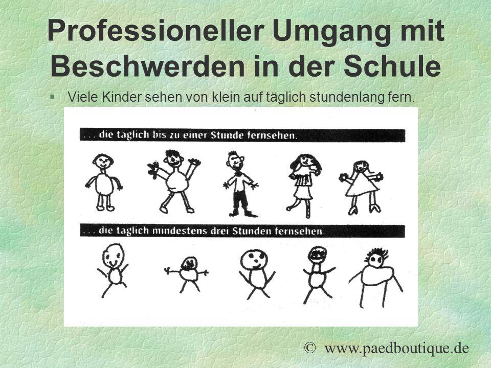 Professioneller Umgang mit Beschwerden in der Schule