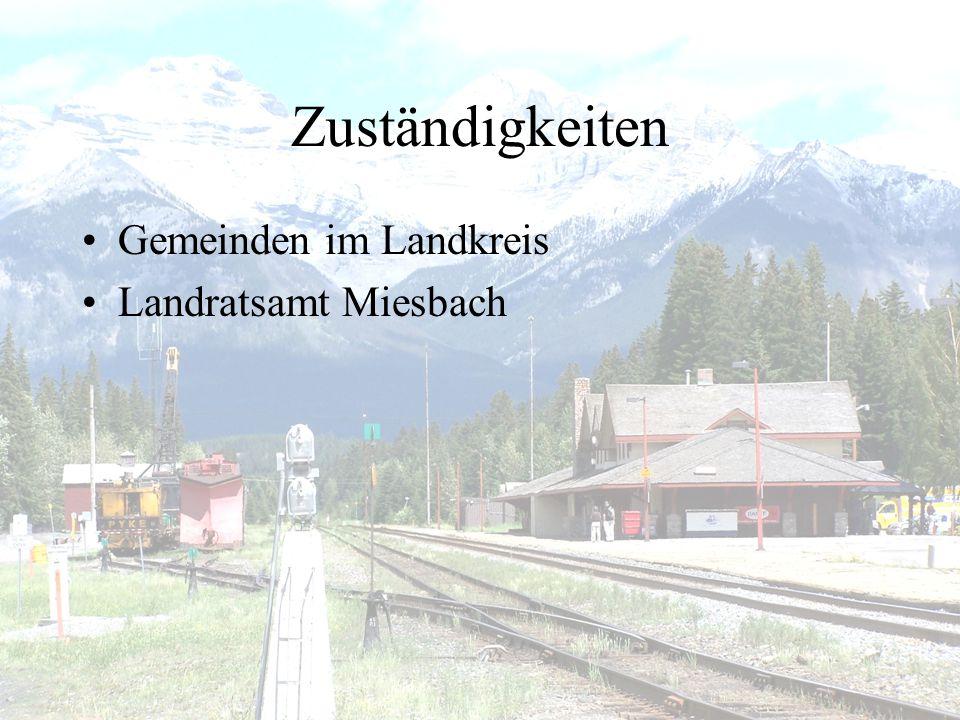 Zuständigkeiten Gemeinden im Landkreis Landratsamt Miesbach