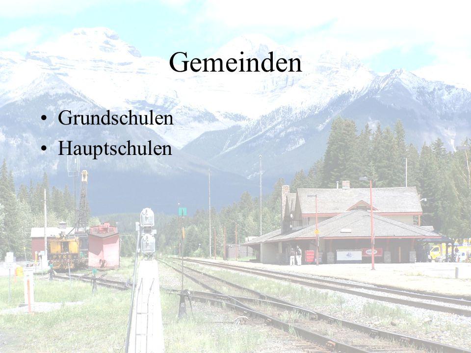 Gemeinden Grundschulen Hauptschulen
