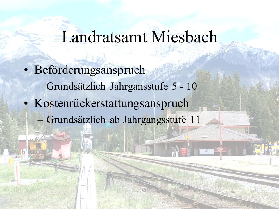 Landratsamt Miesbach Beförderungsanspruch