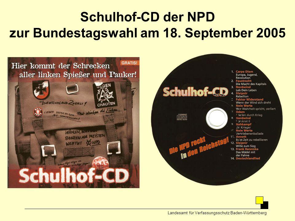 Schulhof-CD der NPD zur Bundestagswahl am 18. September 2005
