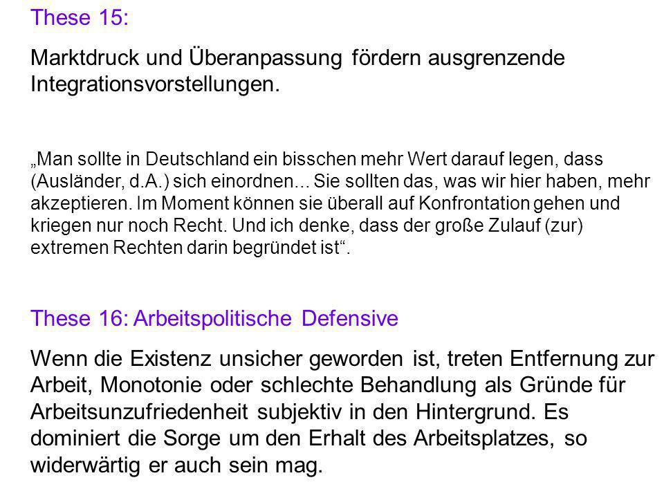 These 16: Arbeitspolitische Defensive