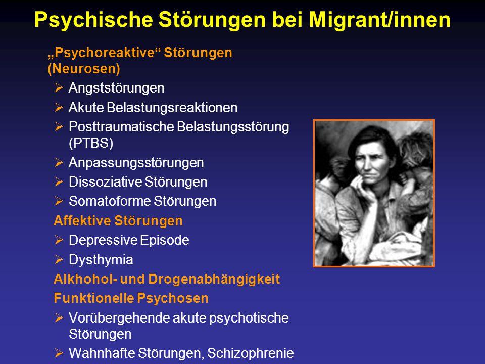 Psychische Störungen bei Migrant/innen