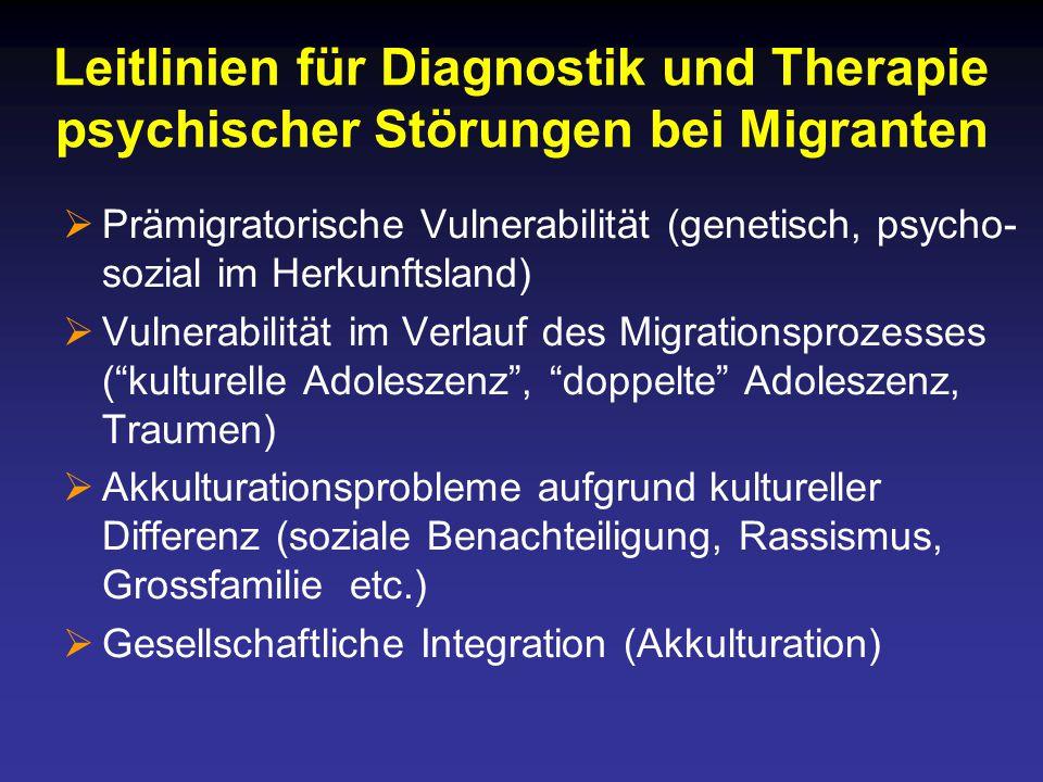 Leitlinien für Diagnostik und Therapie psychischer Störungen bei Migranten