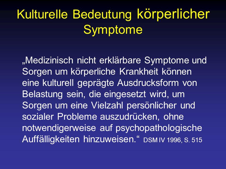 Kulturelle Bedeutung körperlicher Symptome