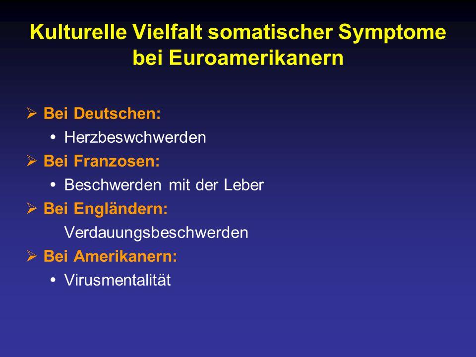 Kulturelle Vielfalt somatischer Symptome bei Euroamerikanern