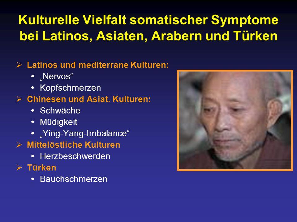 Kulturelle Vielfalt somatischer Symptome bei Latinos, Asiaten, Arabern und Türken