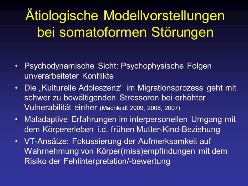 Ätiologische Modellvorstellungen bei somatoformen Störungen