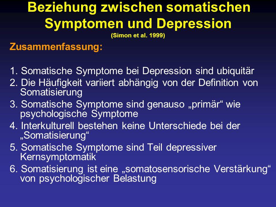 1. Somatische Symptome bei Depression sind ubiquitär