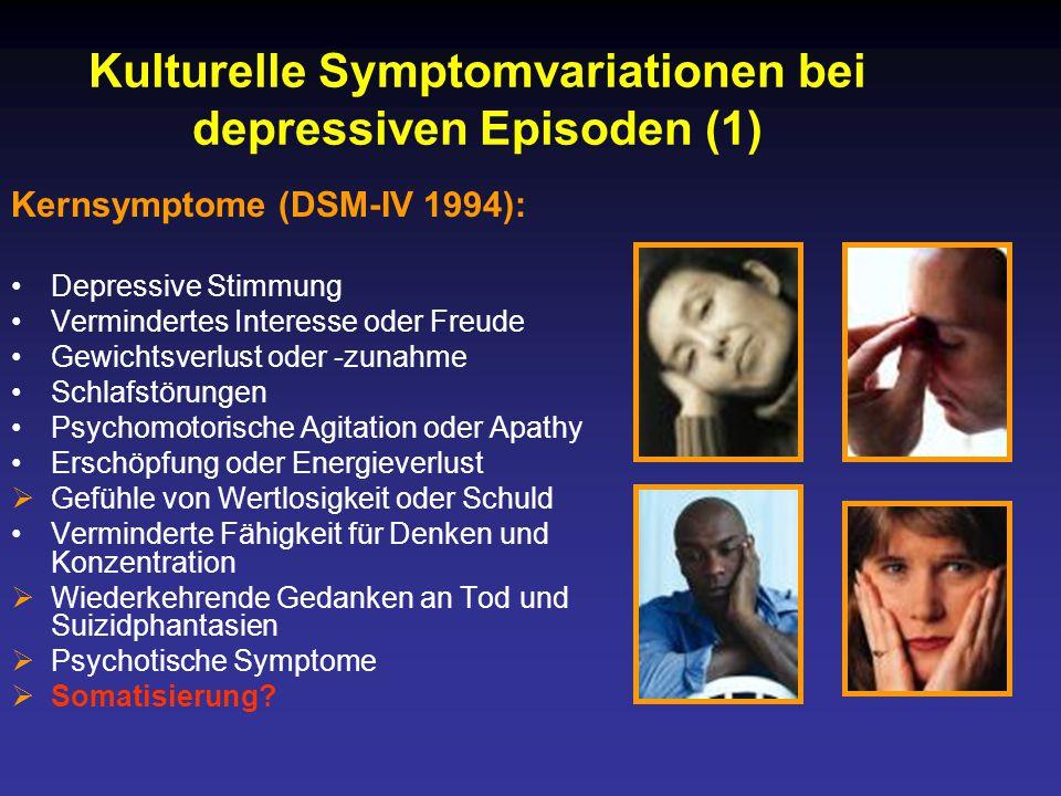 Kulturelle Symptomvariationen bei depressiven Episoden (1)