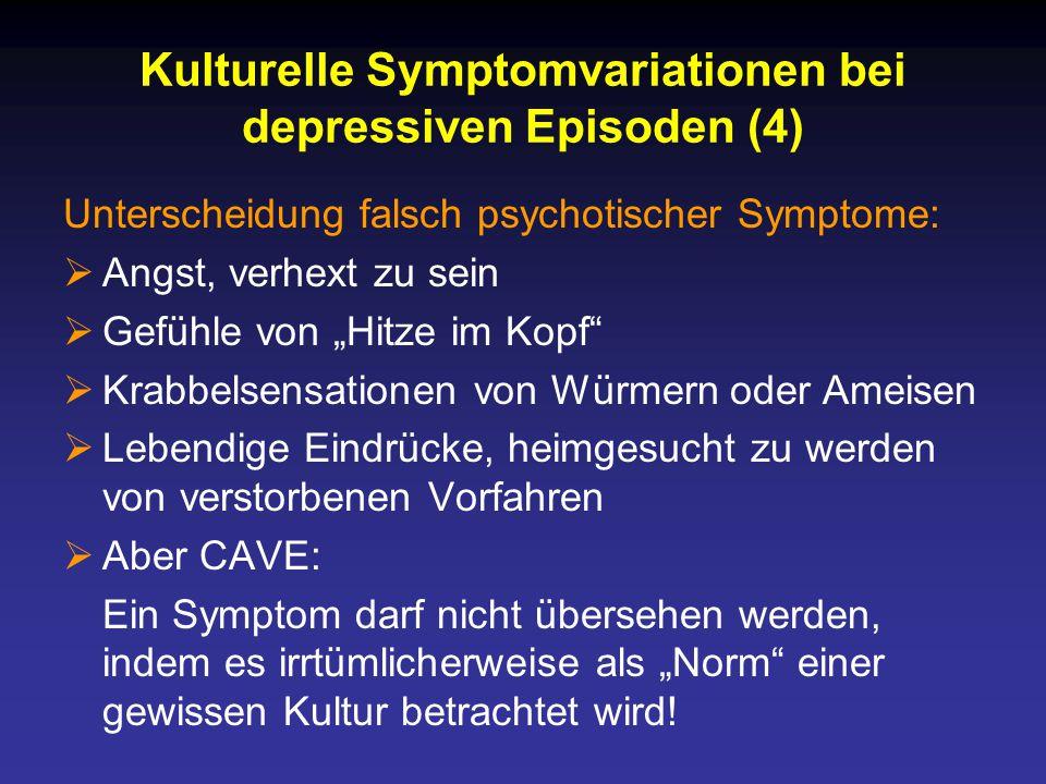 Kulturelle Symptomvariationen bei depressiven Episoden (4)