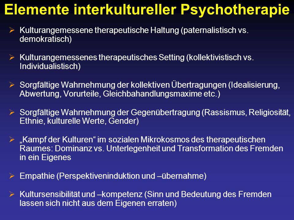 Elemente interkultureller Psychotherapie