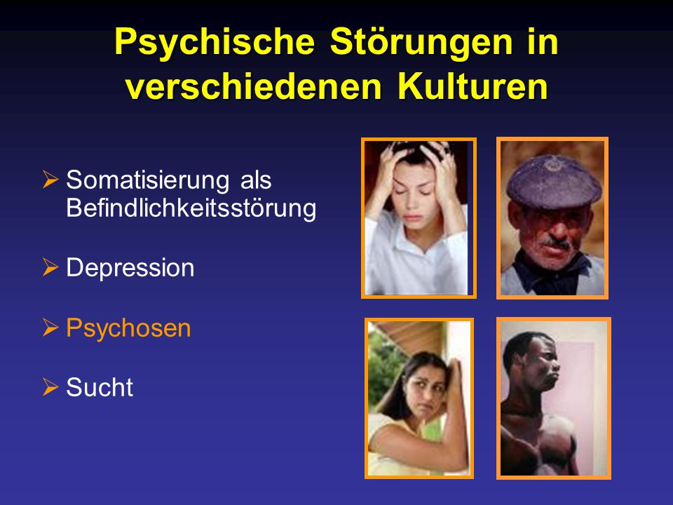 Psychische Störungen in verschiedenen Kulturen