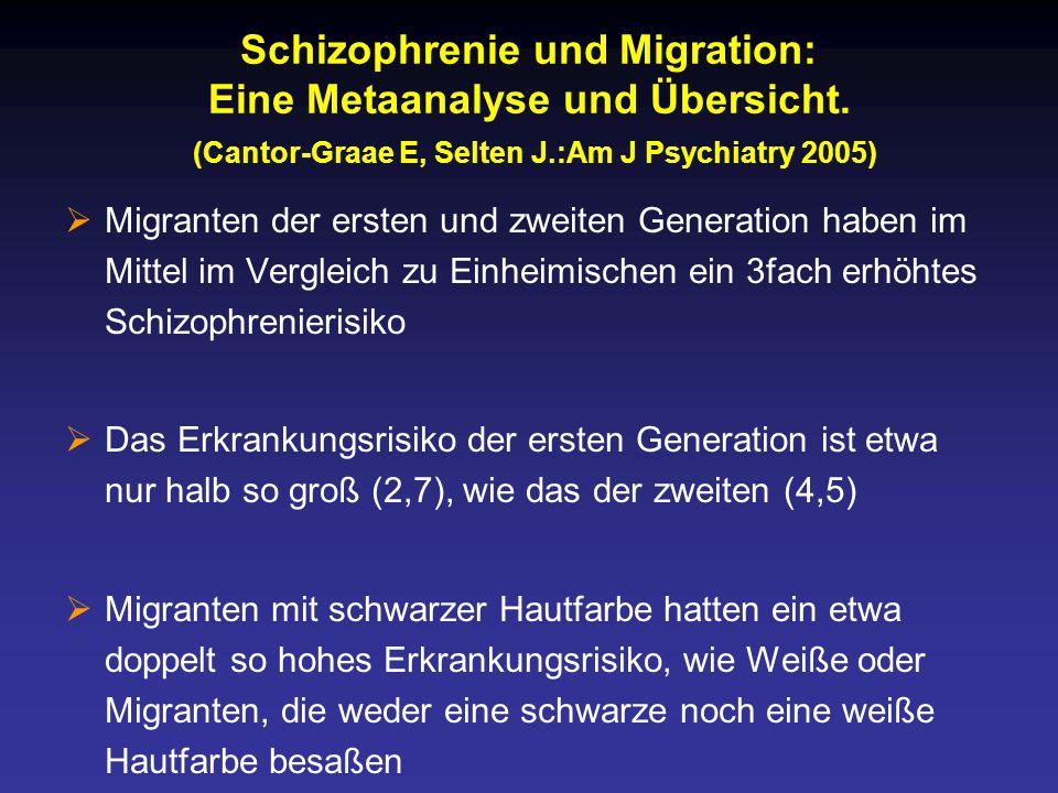 Schizophrenie und Migration: Eine Metaanalyse und Übersicht