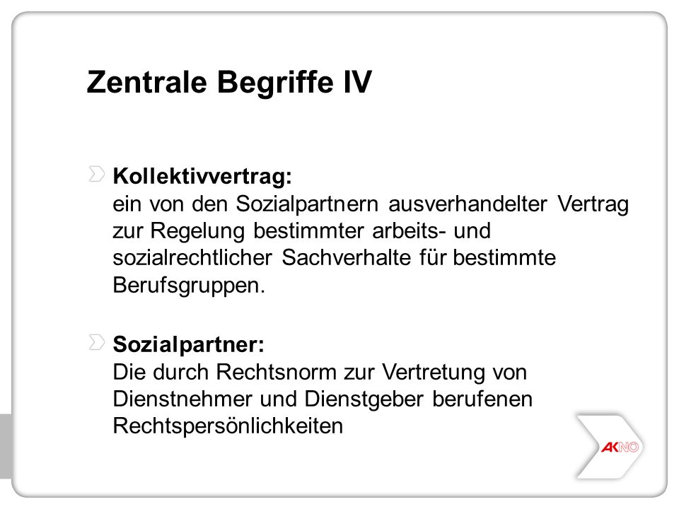 Zentrale Begriffe IV