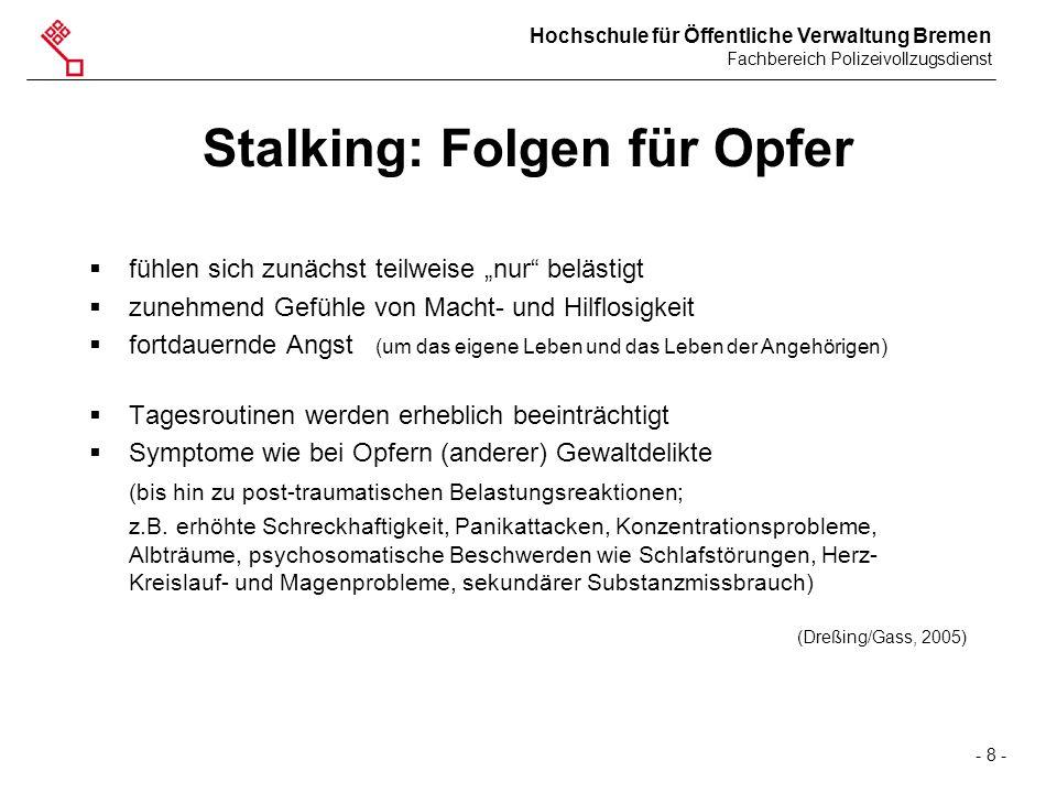 Stalking: Folgen für Opfer