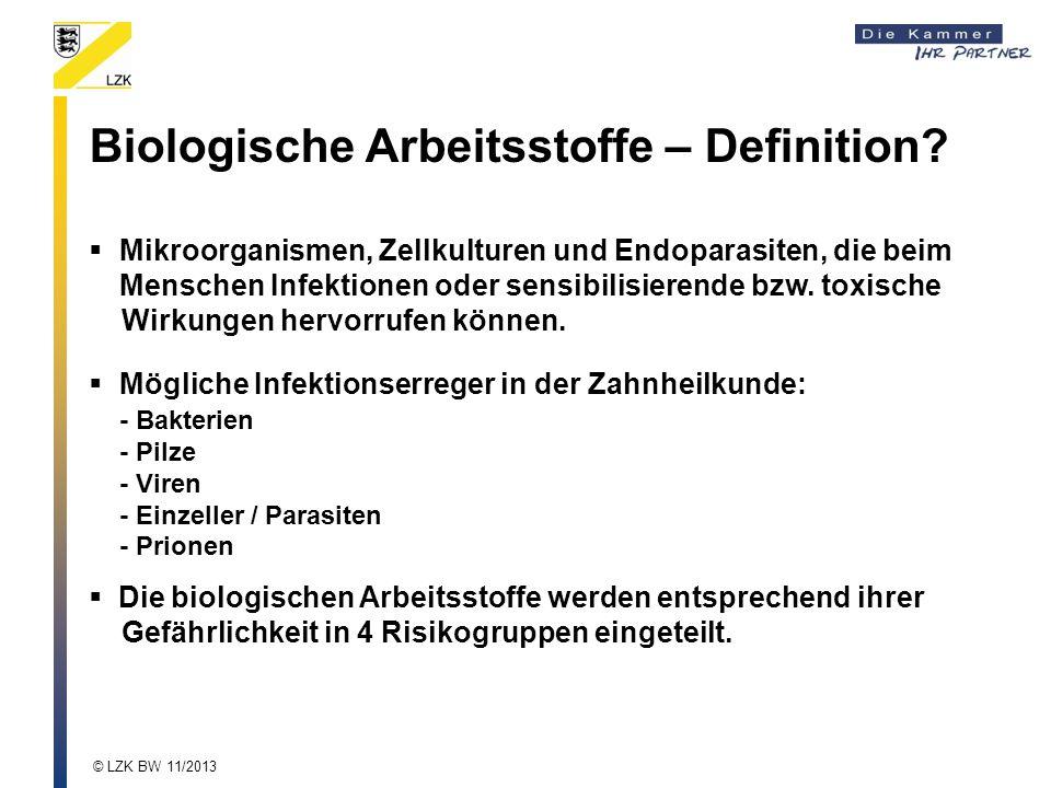 Biologische Arbeitsstoffe – Definition