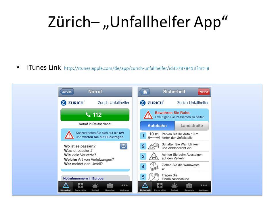 """Zürich– """"Unfallhelfer App"""