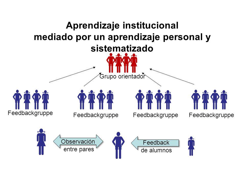 Aprendizaje institucional mediado por un aprendizaje personal y sistematizado