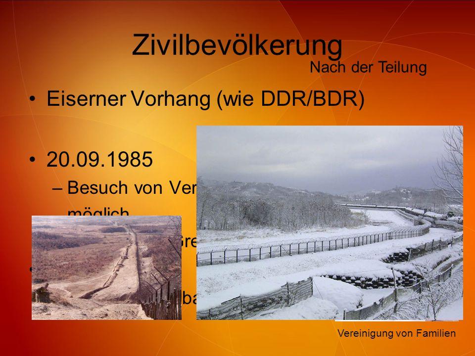 Zivilbevölkerung Eiserner Vorhang (wie DDR/BDR) 20.09.1985 2000
