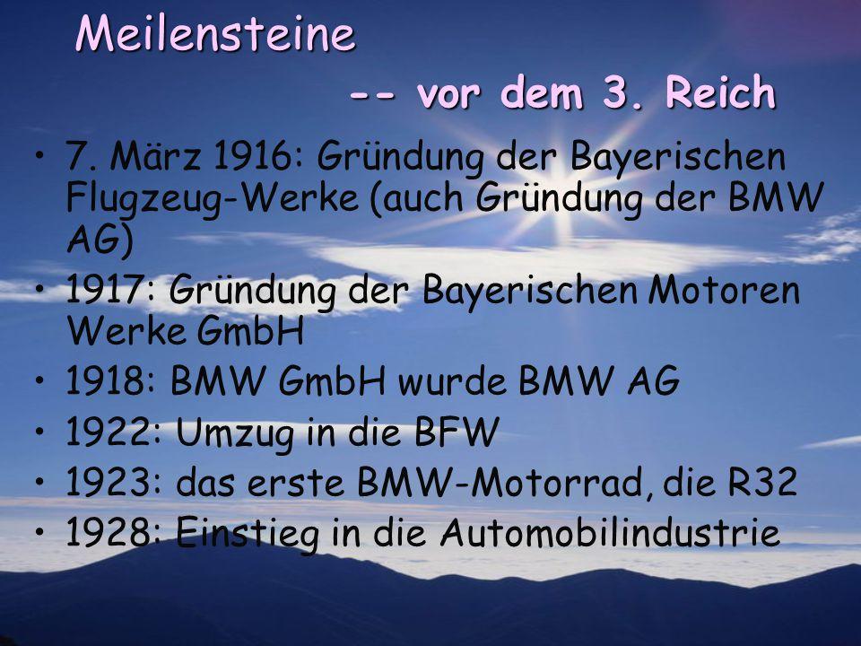 Meilensteine -- vor dem 3. Reich