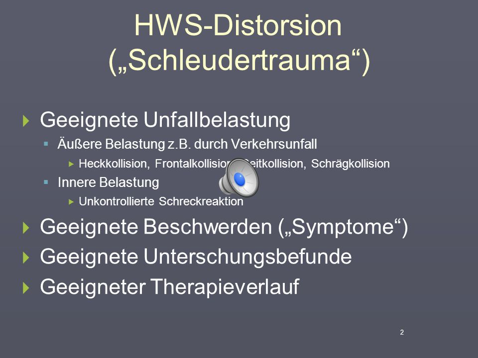 "HWS-Distorsion (""Schleudertrauma )"