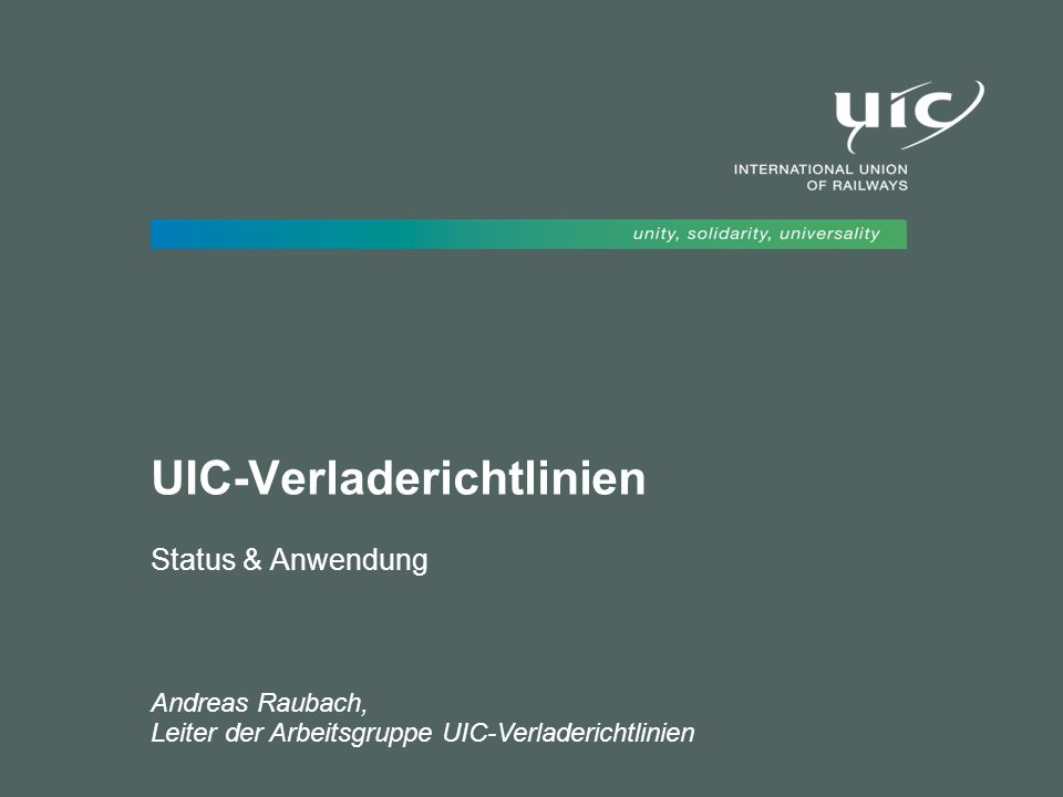UIC-Verladerichtlinien