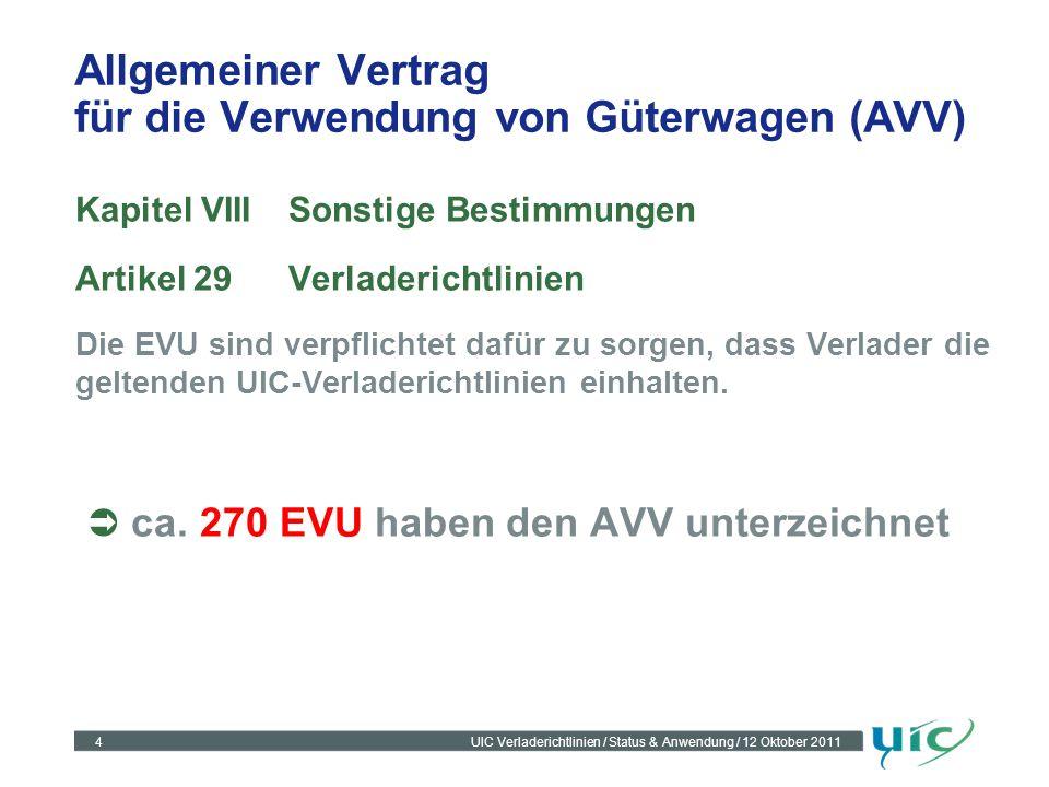 Allgemeiner Vertrag für die Verwendung von Güterwagen (AVV)