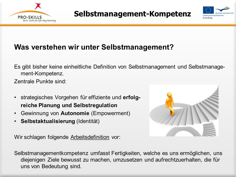Selbstmanagement-Kompetenz
