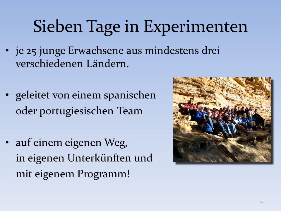 Sieben Tage in Experimenten